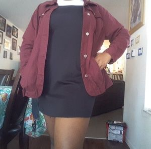Burgandy Button Jacket